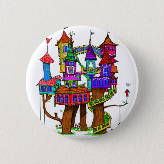 Fantasy Treehouse 2 Inch Round Button