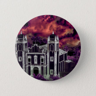 Fantasy Tropical Cityscape Aerial View 2 Inch Round Button