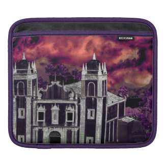 Fantasy Tropical Cityscape Aerial View iPad Sleeve