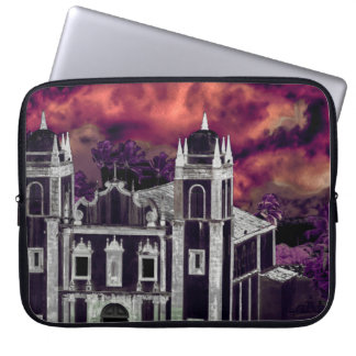 Fantasy Tropical Cityscape Aerial View Laptop Sleeve