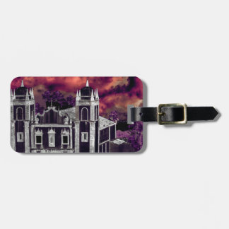 Fantasy Tropical Cityscape Aerial View Luggage Tag