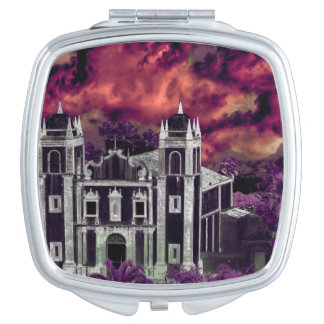 Fantasy Tropical Cityscape Aerial View Mirror For Makeup