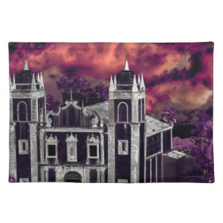 Fantasy Tropical Cityscape Aerial View Placemat