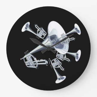 Fantasy Trumpets Music Lovers Wall Clock