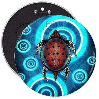 Fantasy Turtle Tattoo 6 Inch Round Button