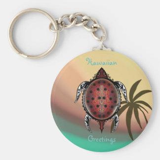 Fantasy Turtle Tattoo Basic Round Button Keychain