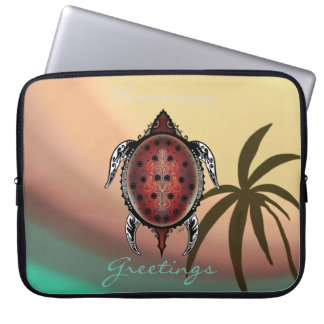 Fantasy Turtle Tattoo Laptop Computer Sleeves