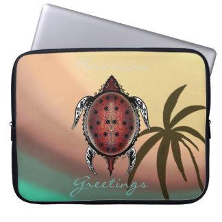 Fantasy Turtle Tattoo Laptop Sleeve