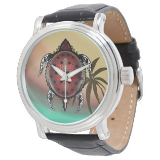 Fantasy Turtle Tattoo Wrist Watch