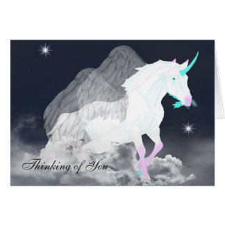 Fantasy Unicorn Angel Card