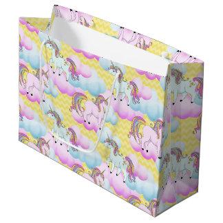 Fantasy unicorn girls pattern party bag