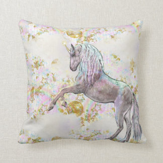 Fantasy Unicorn girls room decor Throw Pillow