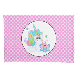 Fantasy unicorn girls room pillowcase