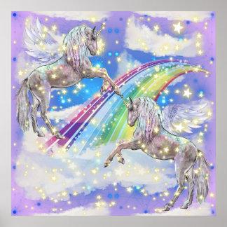 Fantasy Unicorn girls room poster