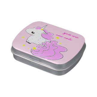 fantasy unicorn with stars jelly belly candy tins