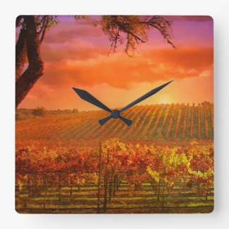Fantasy Vineyard Clock