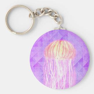 Fantasy Violet Purple Artistic Jellyfish Keychain