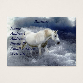 Fantasy White Horse & Ocean Surf Business Card