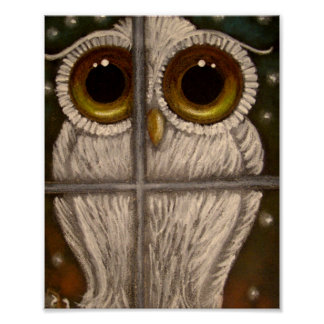 FANTASY WHITE SNOWY OWL Poster