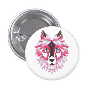 Fantasy Wolf Animal 1 Inch Round Button