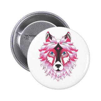 Fantasy Wolf Animal 2 Inch Round Button