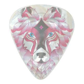 Fantasy Wolf Animal Pearl Celluloid Guitar Pick