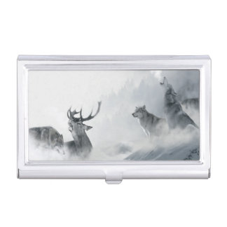 Fantasy Wolf Business Card Case