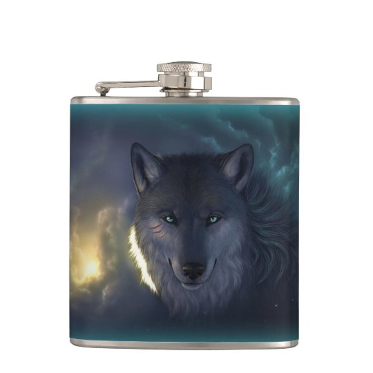 Fantasy Wolf Flask