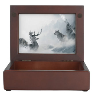 Fantasy Wolf Keepsake Box