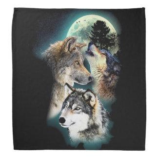 Fantasy Wolf Moon Mountain Bandana
