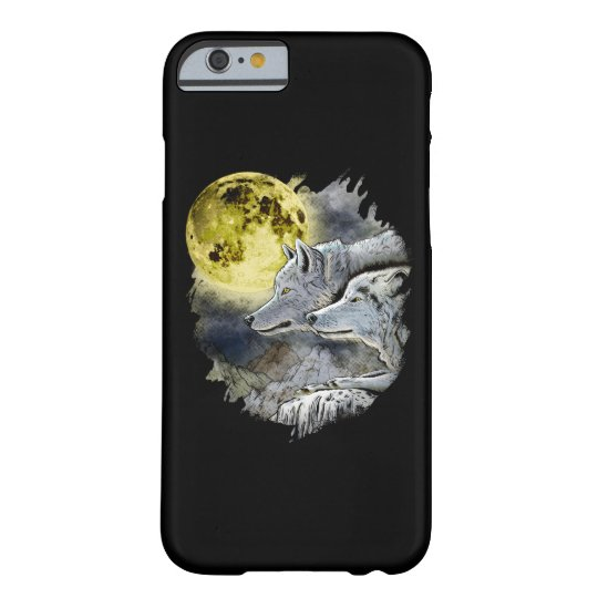 Fantasy Wolf Moon Mountain Barely There iPhone 6 Case