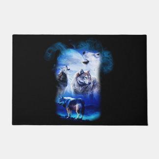 Fantasy Wolf Moon Mountain Doormat