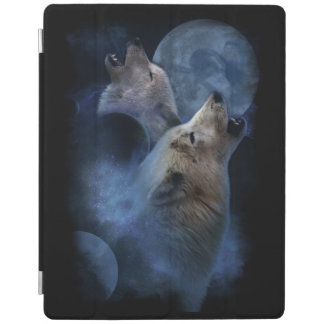 Fantasy Wolf Moon Mountain iPad Cover
