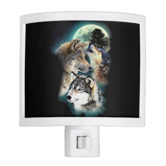Fantasy Wolf Moon Mountain Nite Lites