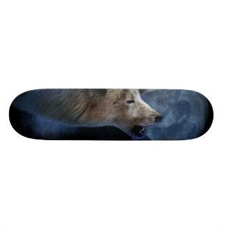Fantasy Wolf Moon Mountain Skateboard