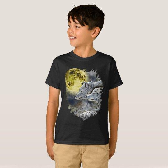 Fantasy Wolf Moon Mountain T-Shirt