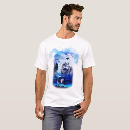Fantasy Wolf Moon Mountain T-Shirt