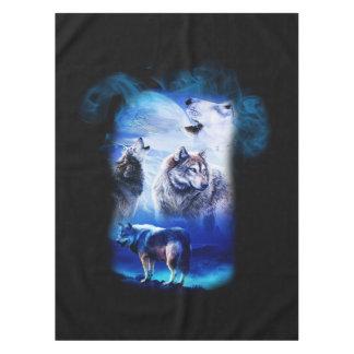 Fantasy Wolf Moon Mountain Tablecloth