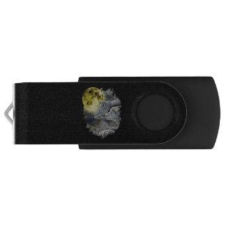 Fantasy Wolf Moon Mountain USB Flash Drive