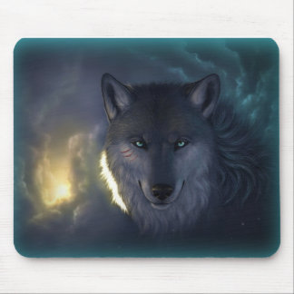 Fantasy Wolf Mouse Pad