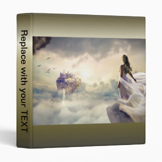 Fantasy Woman and Island Castle in the Clouds Binder