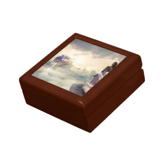 Fantasy Woman and Island Castle in the Clouds Gift Box