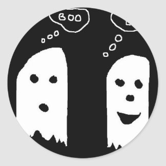 fantôme autocollant rond