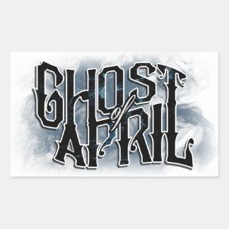 Fantôme d'autocollant d'avril sticker rectangulaire