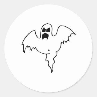 Fantôme de Halloween Autocollant Rond