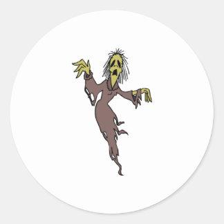 Fantôme de Halloween Autocollants Ronds