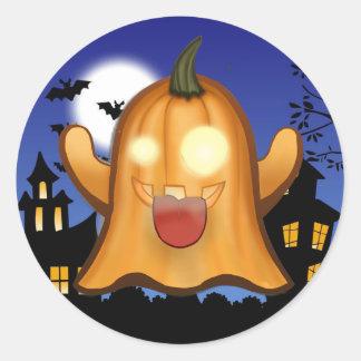 fantôme de whatsapp dans halloween sticker rond