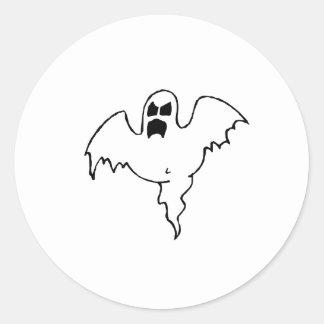 Fantôme effrayant adhésif rond