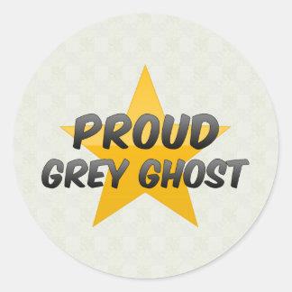 Fantôme gris fier adhésifs ronds