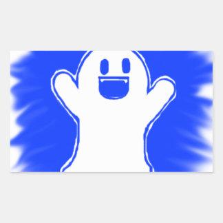 Fantôme heureux autocollants rectangulaires